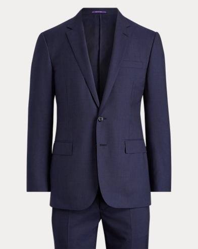 Micro-Houndstooth Wool Suit