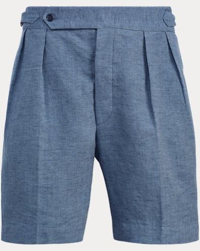 Textured Linen-Silk Short