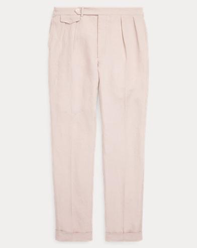 Slub Linen-Silk Suit Trouser