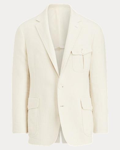 Slub Stretch Twill Suit Jacket