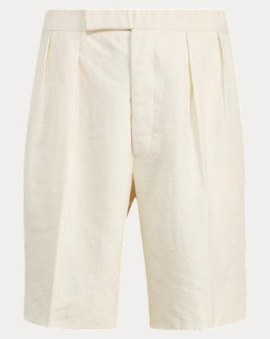 Pleated Linen Ripstop Short