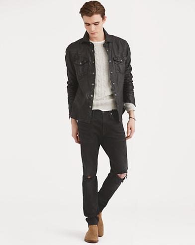 Leather Western Overshirt