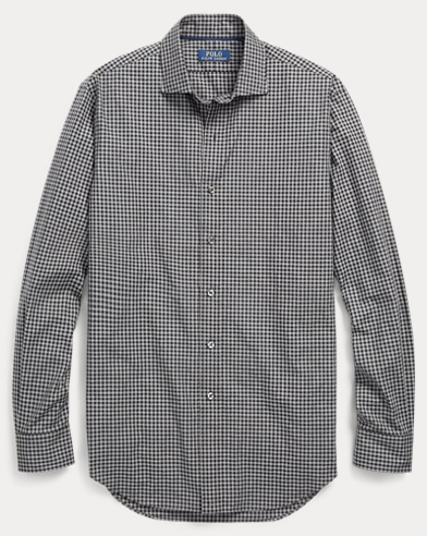 Classic Fit Plaid Twill Shirt