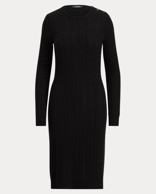 e4ce4aa76d4 Lauren Cable-Knit Sweater Dress 1