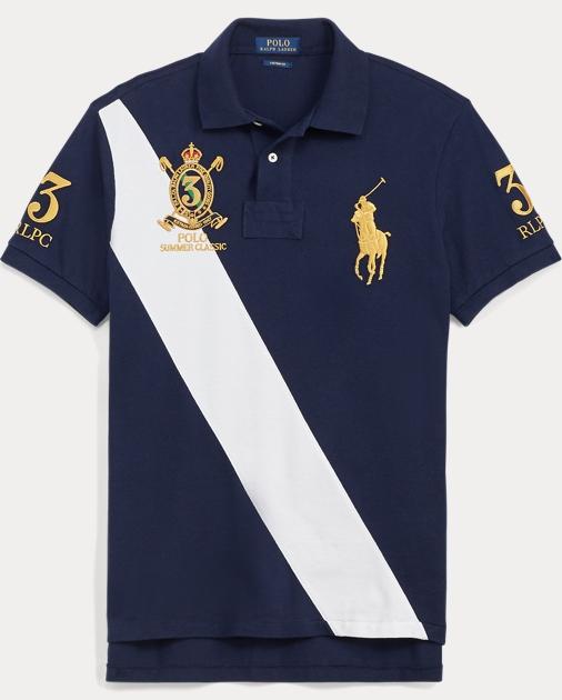 d731f05e1 Polo Ralph Lauren Custom Fit Mesh Polo Shirt 1