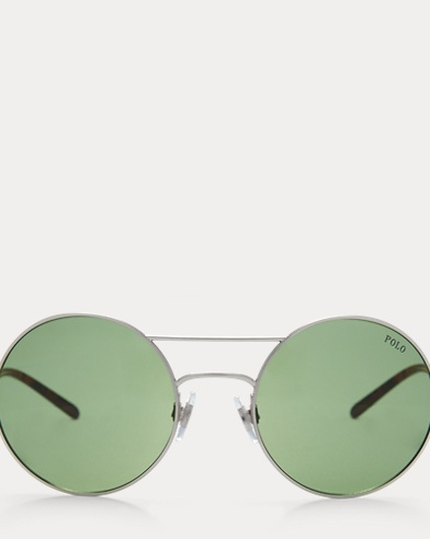 Double-Bridge Round Sunglasses