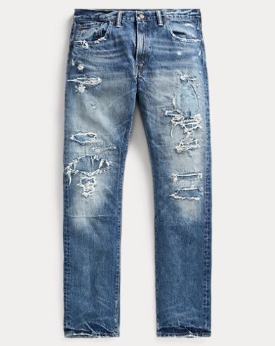 Slim Fit Distressed Jean