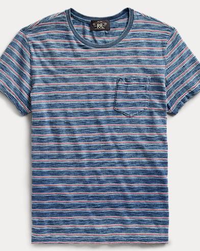Striped Cotton Pocket T-Shirt