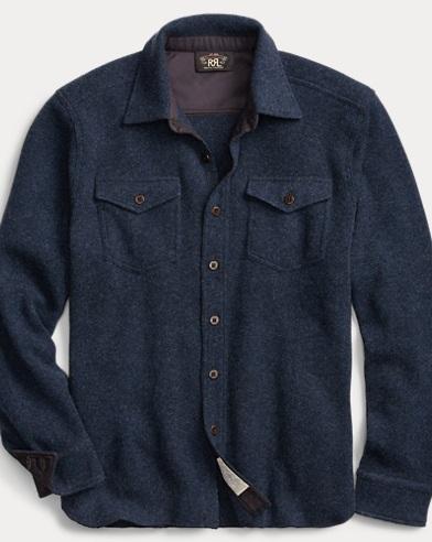 Knit Wool-Cashmere Shirt
