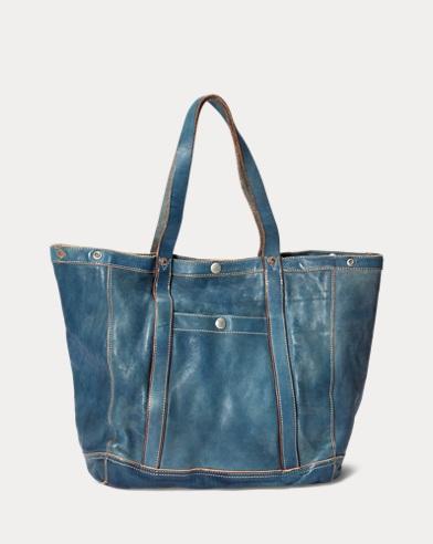 01ae4575ca Indigo-Dyed Leather Tote