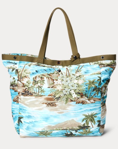 Packable Cotton-Blend Tote