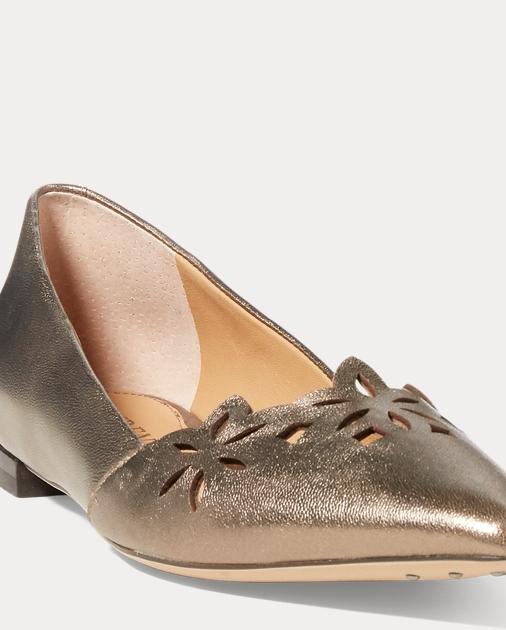 86fcd04665b7 Lauren Allayana Cutout Leather Flat 1