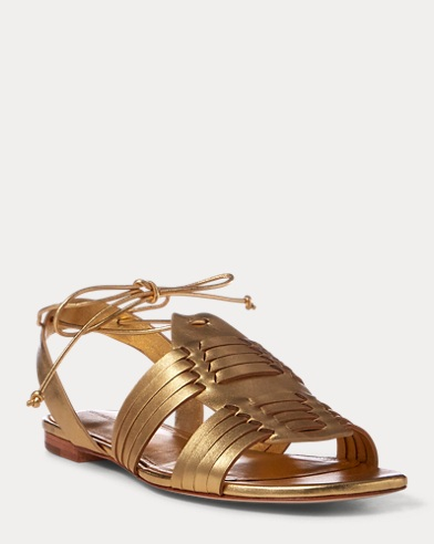 Jaida Metallic Leather Sandal