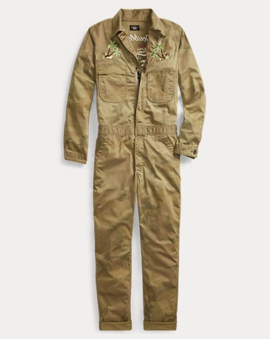 Camo Stretch Cotton Coverall