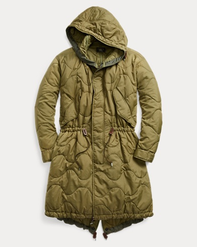 Quilted Fish-Tail Parka