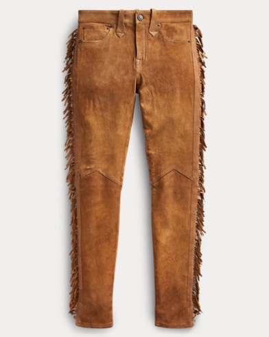 Stretch Skinny Suede Pant