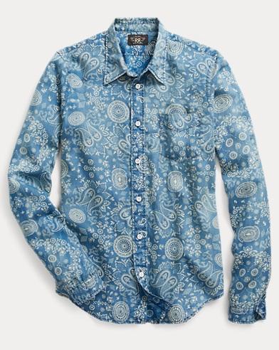 Indigo Cotton Sateen Workshirt