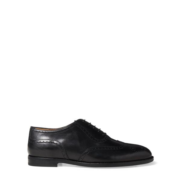Ralph Lauren Quintin Calfskin Oxford Black 36
