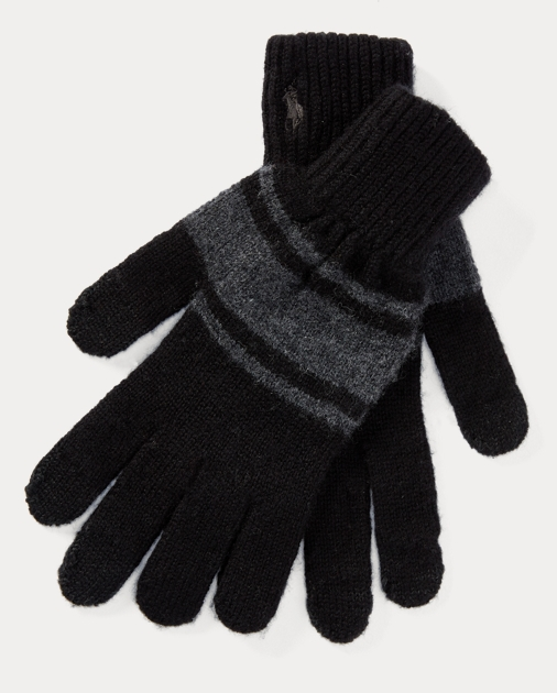 23638860aa00d Rugby-Stripe Wool Tech Gloves   Gloves Hats, Scarves & Gloves ...