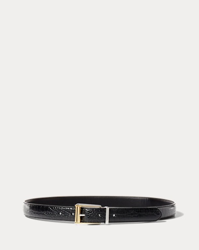 Reversible Croc-Embossed Belt