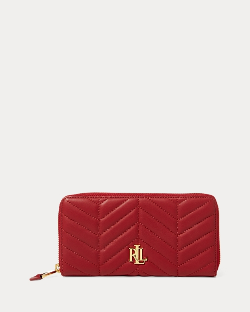 d900f1a242 Lauren Quilted Carrington Zip Wallet 1