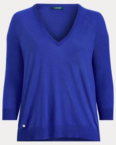 Modal-Silk V-Neck Sweater