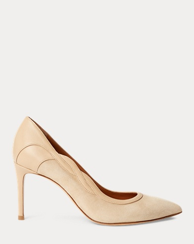 Eulee Suede-Nappa-Leather Pump