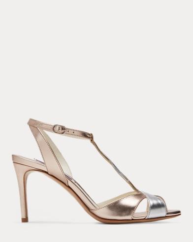 Sandalette Solie aus Metallic-Nappa