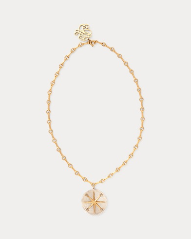 Star Pendant Brass Necklace