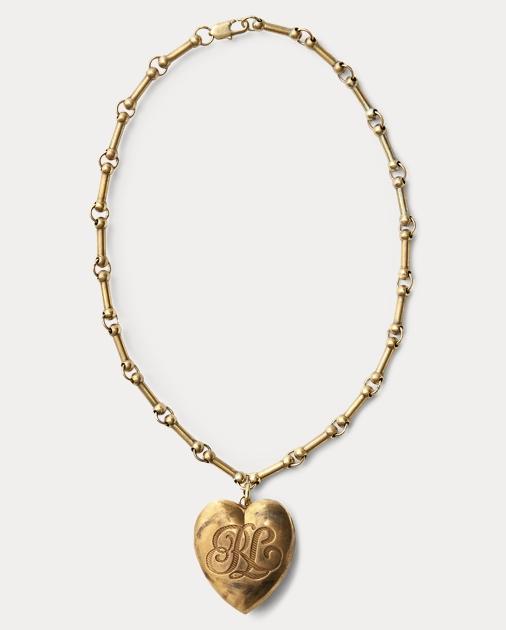 Brass heart locket necklace ralph lauren it produt image 10 aloadofball Gallery