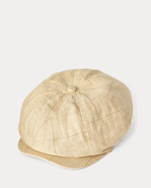 Silk-Linen Newsboy Hat  85c8f6ccec6