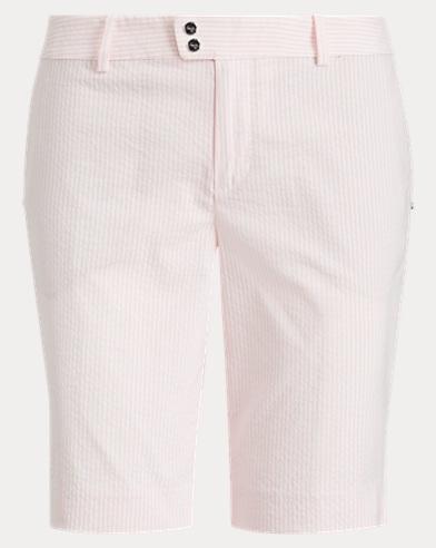 Striped Cotton-Blend Short