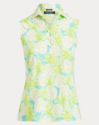 Pineapple-Print Golf Polo