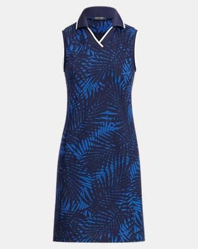 Palm-Print Polo Dress