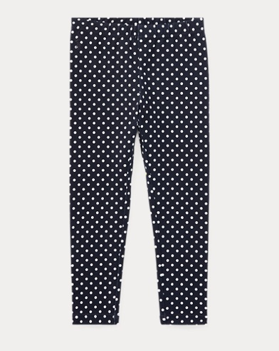 Leggings in jersey a pois