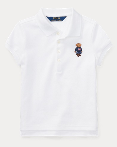 Polo in piqué con Polo Bear