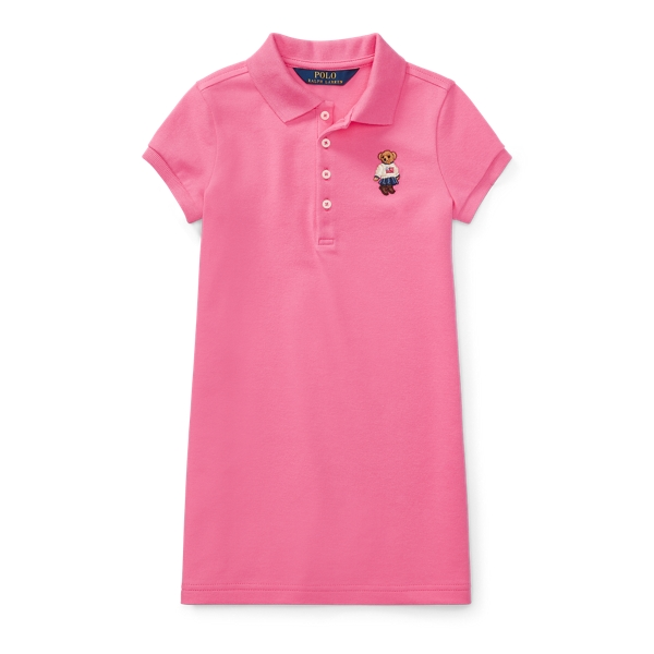 Ralph Lauren Polo Bear Mesh Dress Maui Pink 4T