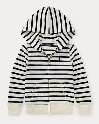 Striped Terry Full-Zip Hoodie