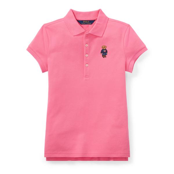 Ralph Lauren Polo Bear Mesh Polo Shirt Baja Pink M