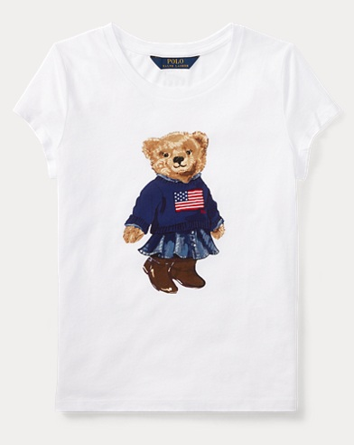 Baumwoll-T-Shirt mit Polo Bear