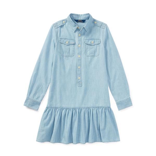 Ralph Lauren Cotton Chambray Shirtdress Indigo 7