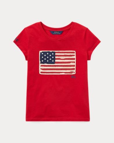 Flaggen-T-Shirt aus Baumwolljersey