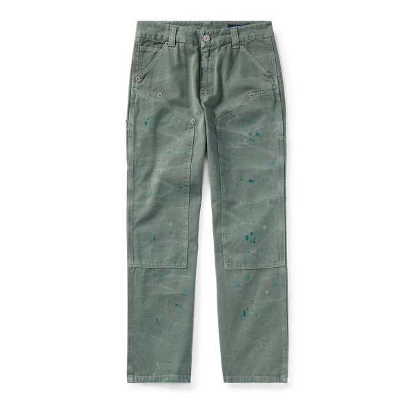 Ralph Lauren Distressed Cotton Twill Pant Faded Green 10