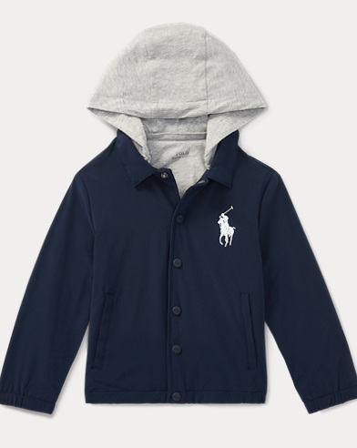 Snap-Front Hooded Jacket