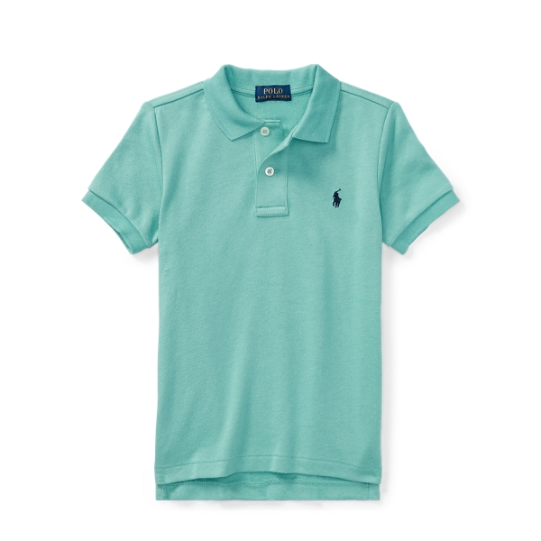 Ralph Lauren Cotton Spa Terry Polo Shirt Deep Seafoam 3T
