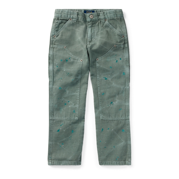 Ralph Lauren Distressed Cotton Twill Pant Faded Green 3T
