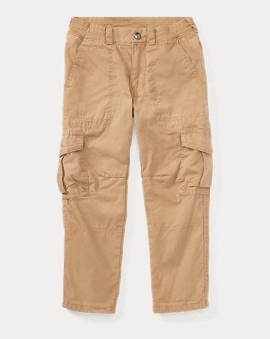 Tapered Cotton Poplin Pant