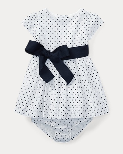 Dotted Cotton Dress & Bloomer