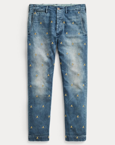 Slim Fit Embroidered Jean