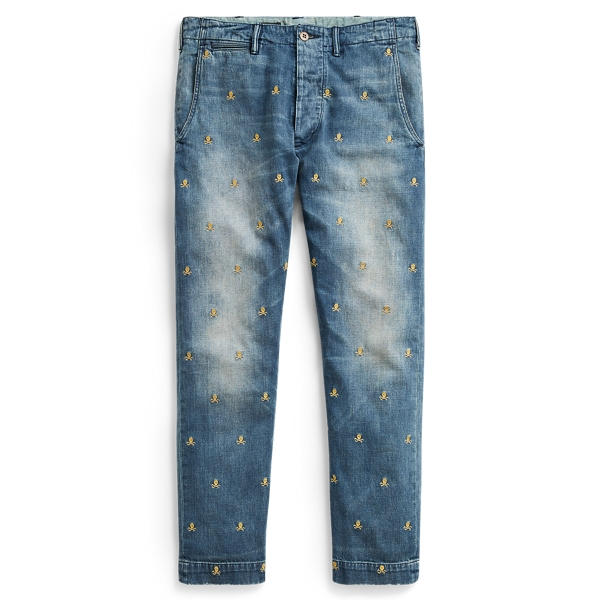 Ralph Lauren Slim Fit Embroidered Jean Irving Embroidered 38